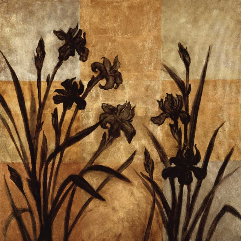 konfigurieren des Kunstdrucks in Wunschgröße Iris Silhouette I von Lange, Erin
