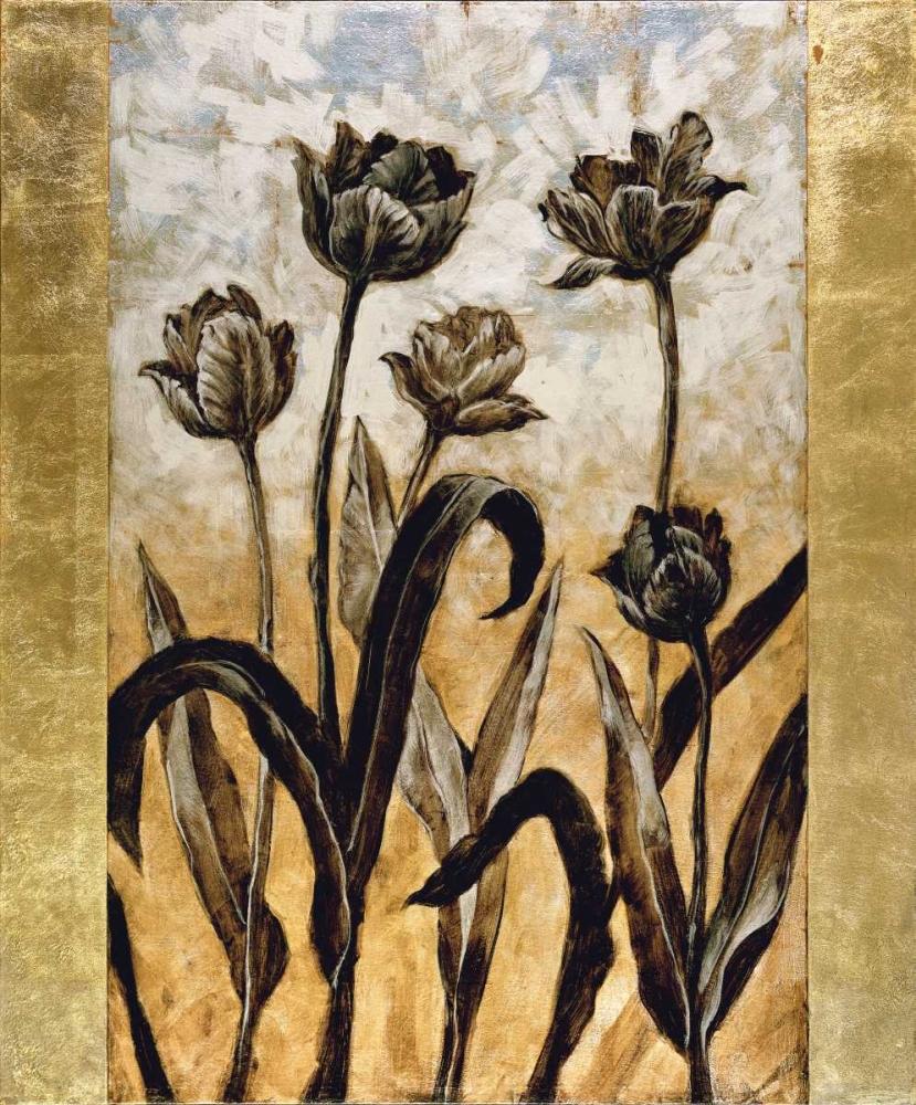 konfigurieren des Kunstdrucks in Wunschgröße Tulip Silhouette von Lange, Erin