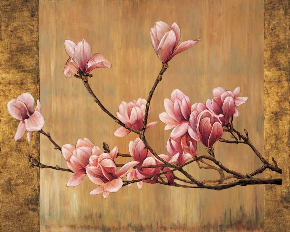 konfigurieren des Kunstdrucks in Wunschgröße Pink Magnolias von Lange, Erin