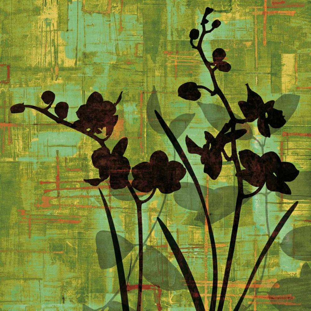 konfigurieren des Kunstdrucks in Wunschgröße Silhouette on Green von Lange, Erin