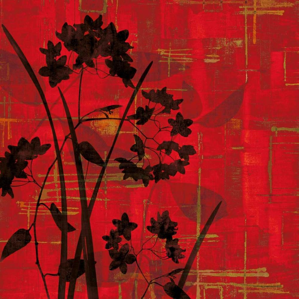 konfigurieren des Kunstdrucks in Wunschgröße Silhouette on Red von Lange, Erin