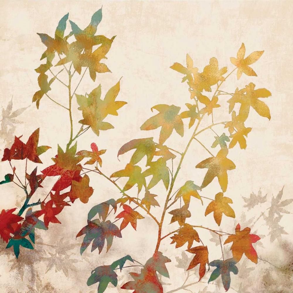 konfigurieren des Kunstdrucks in Wunschgröße Turning Leaves II von Lange, Erin