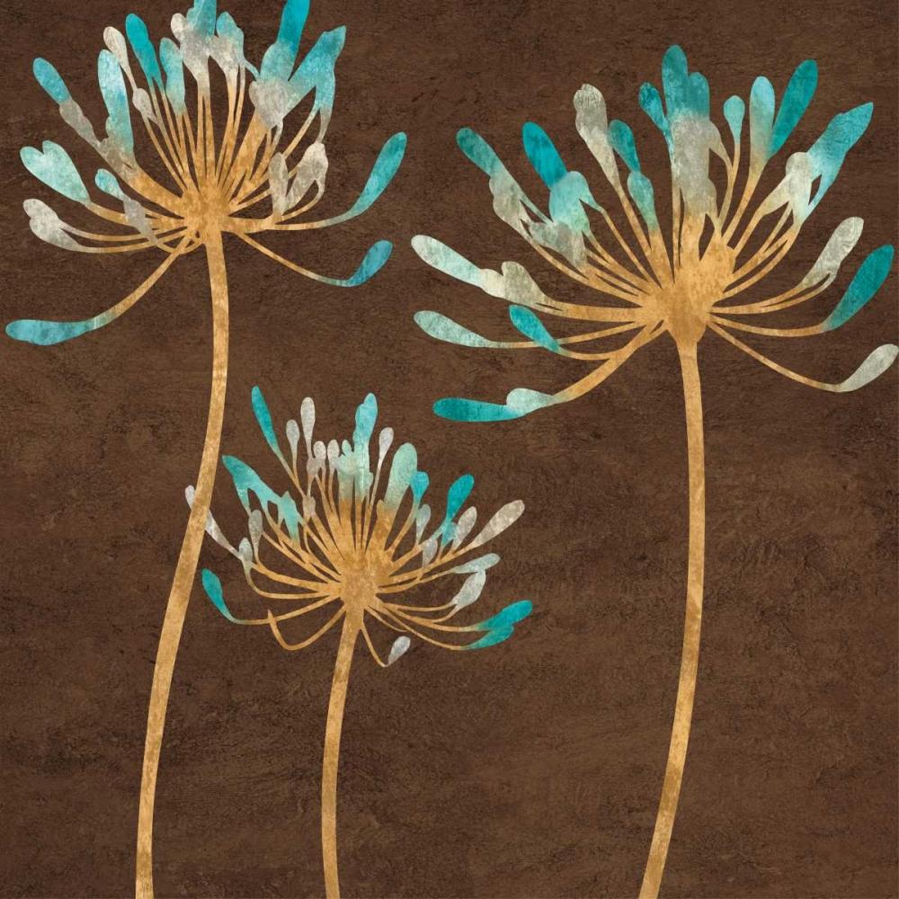 konfigurieren des Kunstdrucks in Wunschgröße Teal Bloom I von Lange, Erin