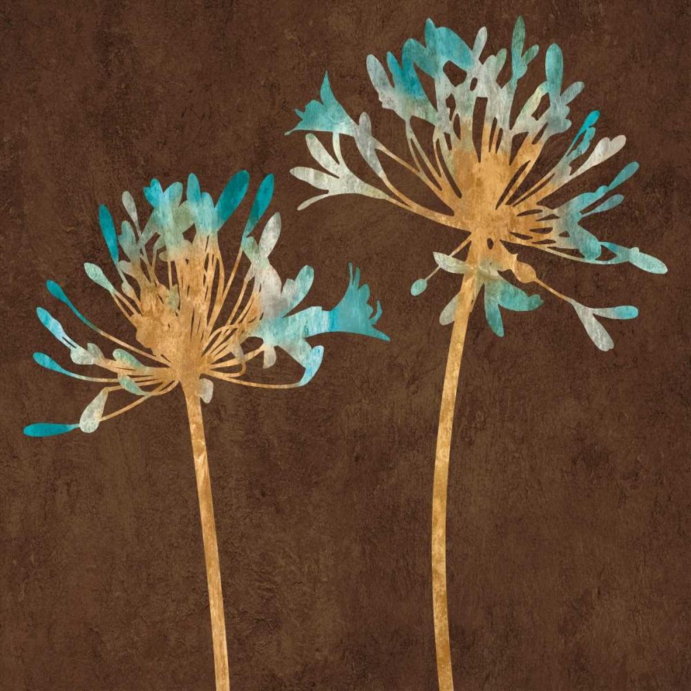 konfigurieren des Kunstdrucks in Wunschgröße Teal Bloom II von Lange, Erin