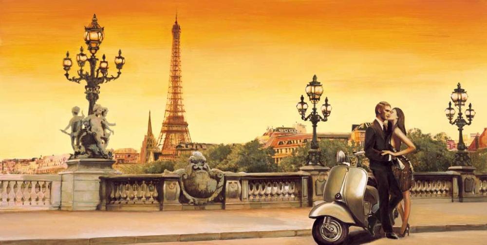 konfigurieren des Kunstdrucks in Wunschgröße Lovers in Paris von Rovere, Edoardo