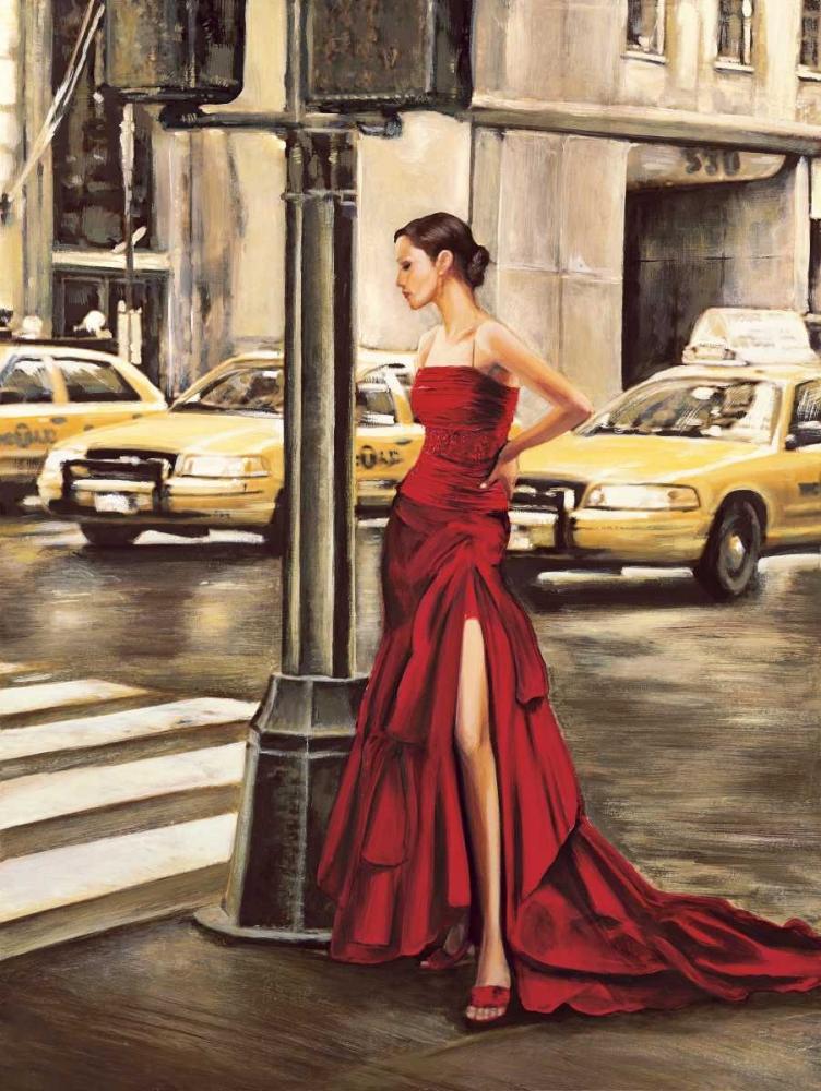 konfigurieren des Kunstdrucks in Wunschgröße Woman in New York von Rovere, Edoardo