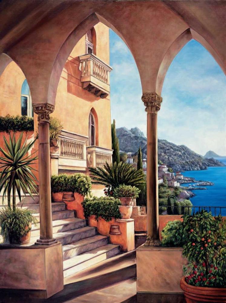 konfigurieren des Kunstdrucks in Wunschgröße Palazzo on Amalfi von Wright, Elizabeth