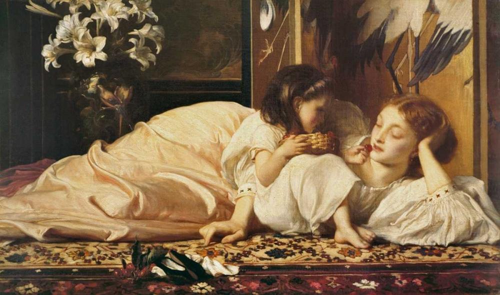konfigurieren des Kunstdrucks in Wunschgröße Mother and child von Leighton, Frederic