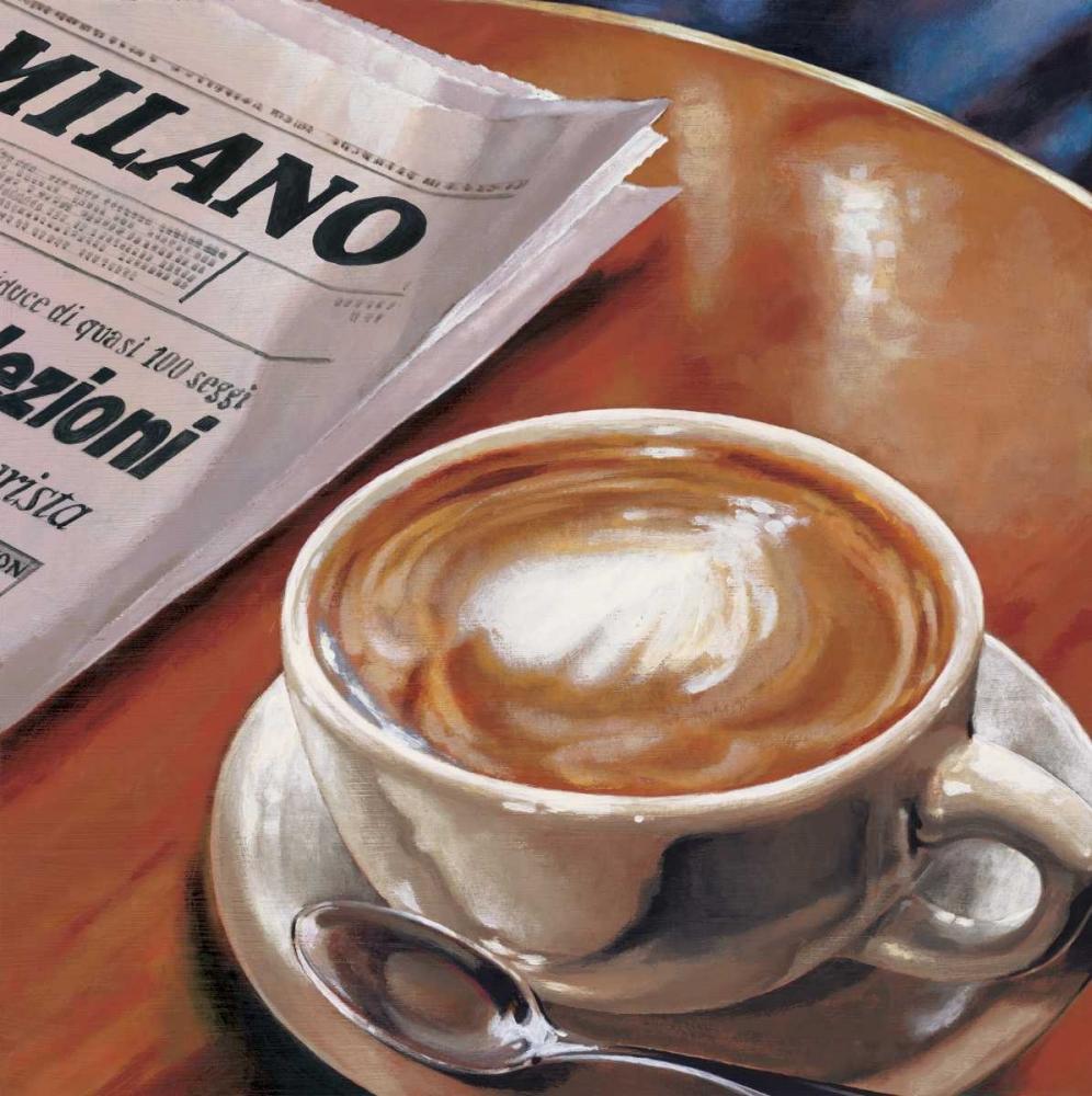 konfigurieren des Kunstdrucks in Wunschgröße Cappuccino al Bar von Landi, Federico
