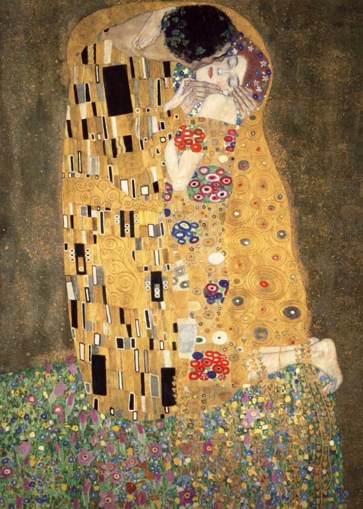 konfigurieren des Kunstdrucks in Wunschgröße Der Kuss von Klimt, Gustav