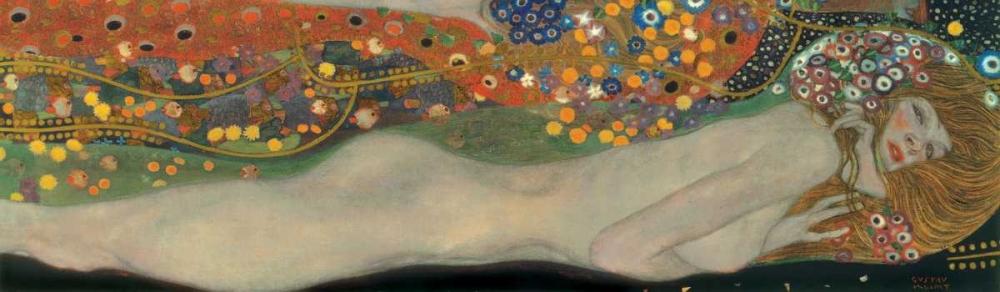 konfigurieren des Kunstdrucks in Wunschgröße Sea Serpents III von Klimt, Gustav