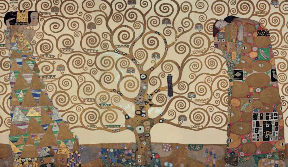 konfigurieren des Kunstdrucks in Wunschgröße The Tree of Life - Stoclet Fri von Klimt, Gustav