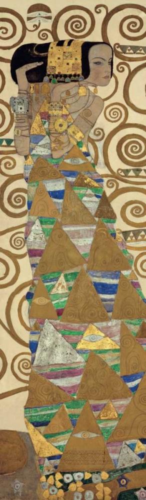 konfigurieren des Kunstdrucks in Wunschgröße Expectation von Klimt, Gustav