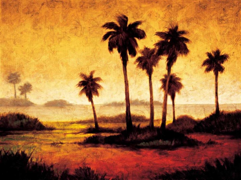 konfigurieren des Kunstdrucks in Wunschgröße Sunset Palms I von Williams, Gregory