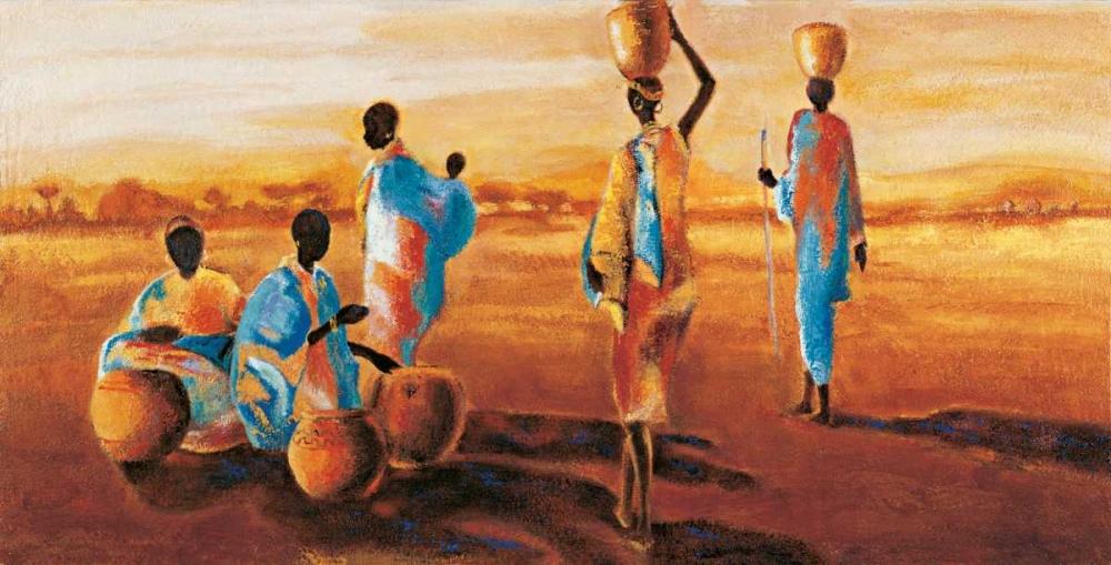 konfigurieren des Kunstdrucks in Wunschgröße Apres-midi en Afrique von Beaumont, Jaques