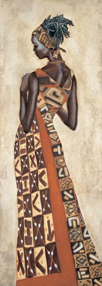 konfigurieren des Kunstdrucks in Wunschgröße Femme Africaine II von Leconte, Jacques