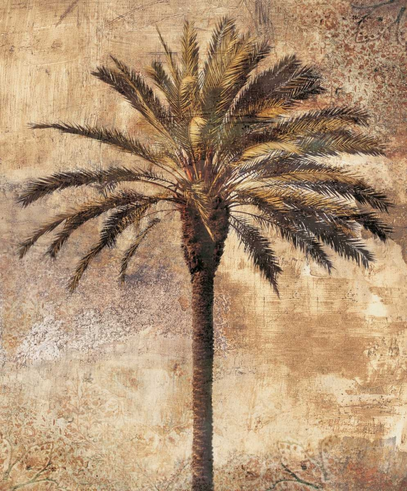 palm,tropical,botanical,tree,green,brown,gold,marine,tropical,Tropical,Botanical ,,,,IS5379,Majestic I,Seba, John,Vertical