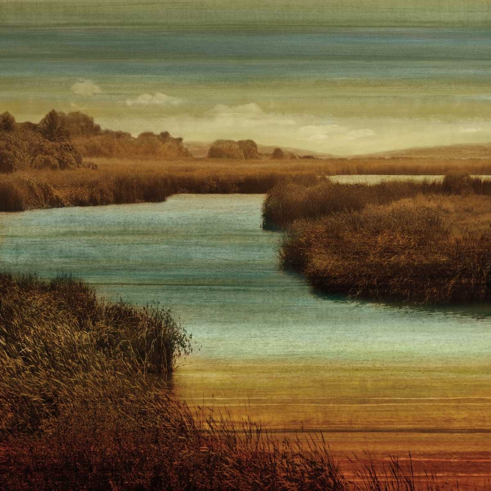 konfigurieren des Kunstdrucks in Wunschgröße On The Water II von Seba, John