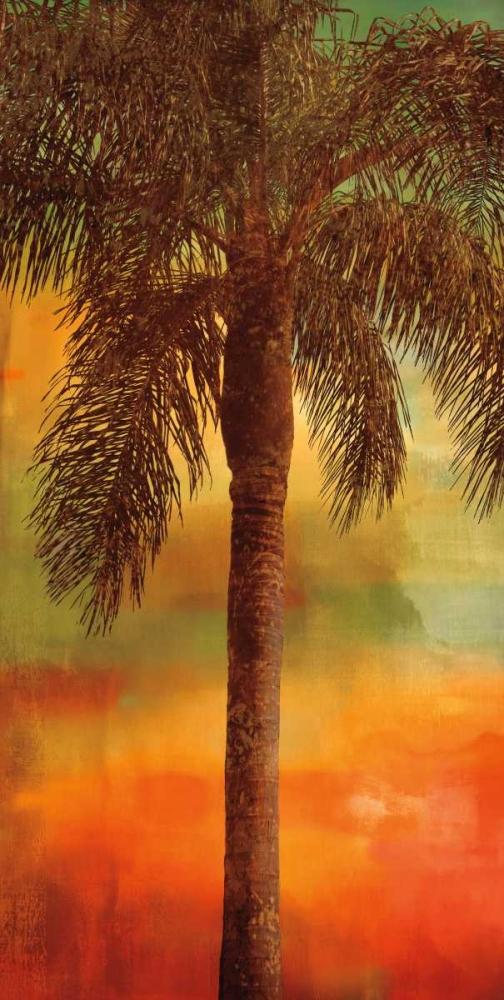 konfigurieren des Kunstdrucks in Wunschgröße Sunset Palms I von Seba, John