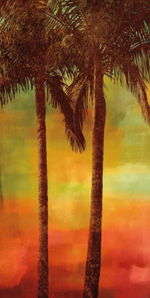 konfigurieren des Kunstdrucks in Wunschgröße Sunset Palms II von Seba, John