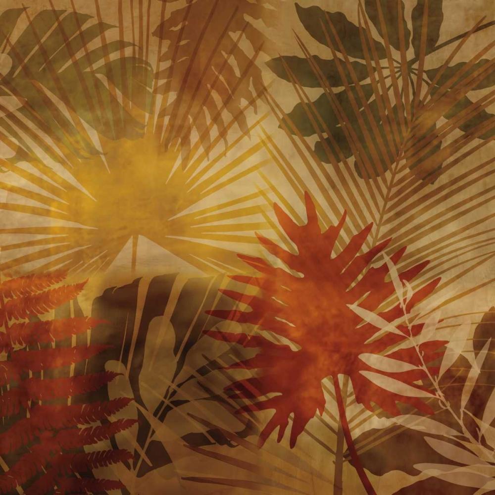konfigurieren des Kunstdrucks in Wunschgröße Sunlit Palms I von Seba, John