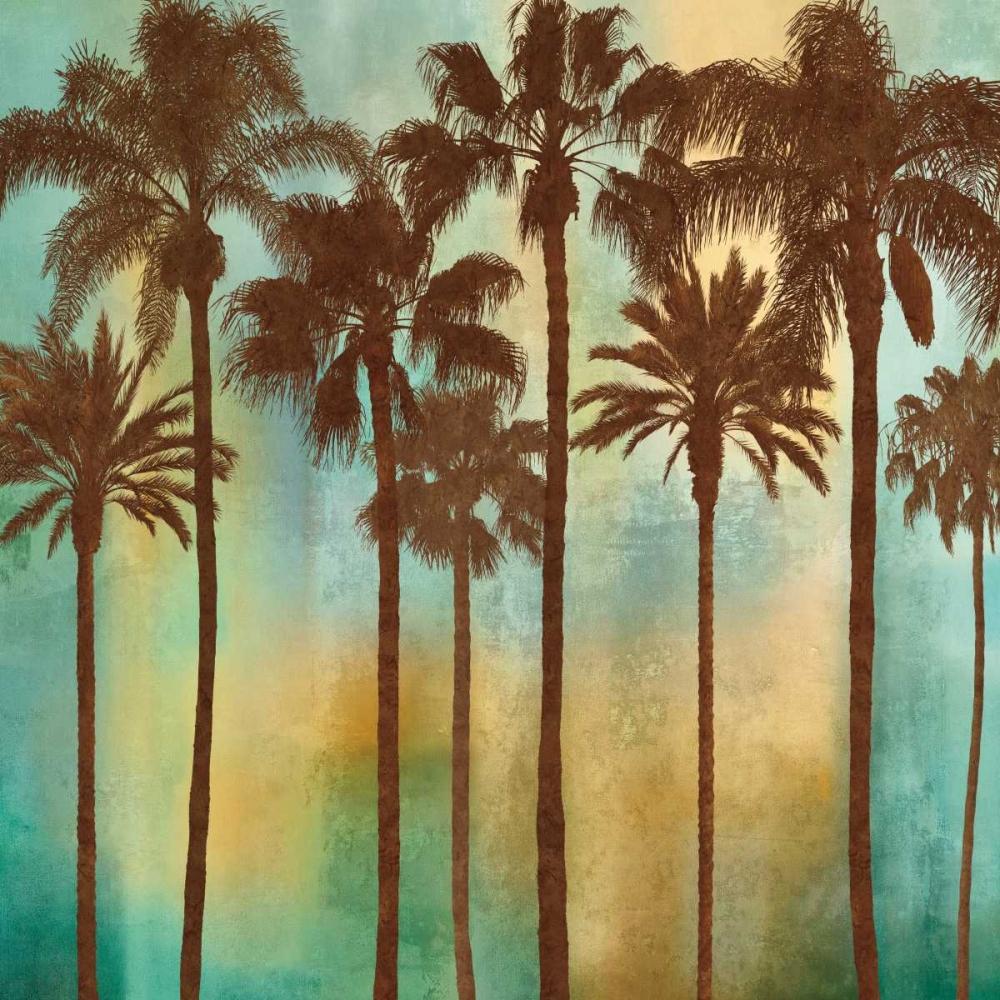 konfigurieren des Kunstdrucks in Wunschgröße Aqua Palms I von Seba, John