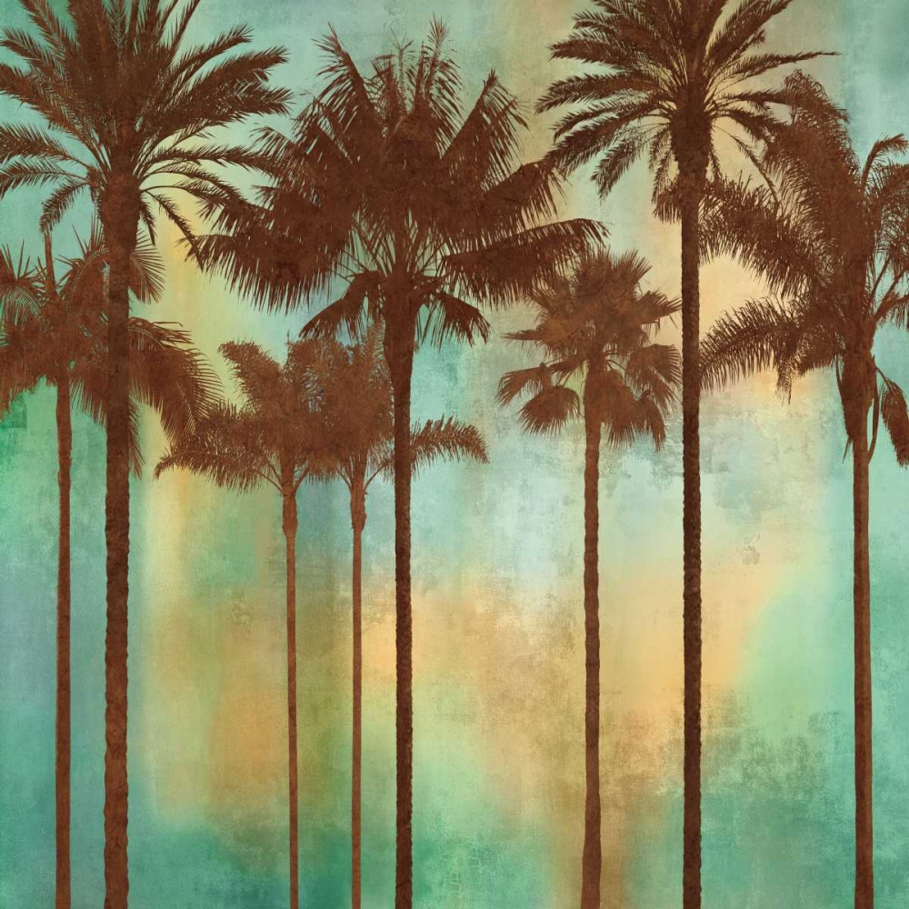 konfigurieren des Kunstdrucks in Wunschgröße Aqua Palms II von Seba, John