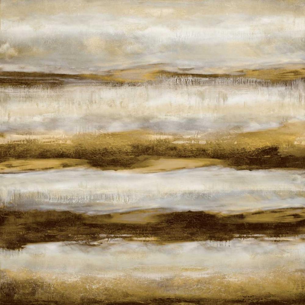 konfigurieren des Kunstdrucks in Wunschgröße Linear Motion in Golden von Blake, Jaden