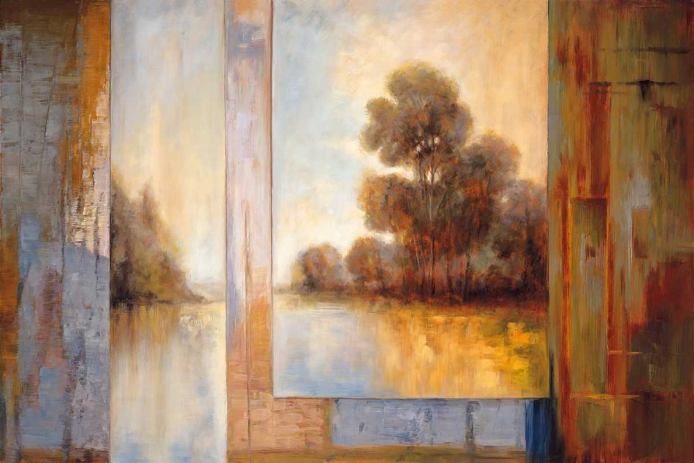 konfigurieren des Kunstdrucks in Wunschgröße Secluded Pond I von Bryant, James
