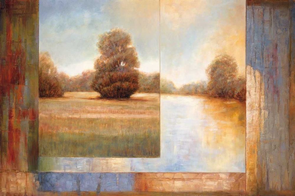 konfigurieren des Kunstdrucks in Wunschgröße Secluded Pond II von Bryant, James