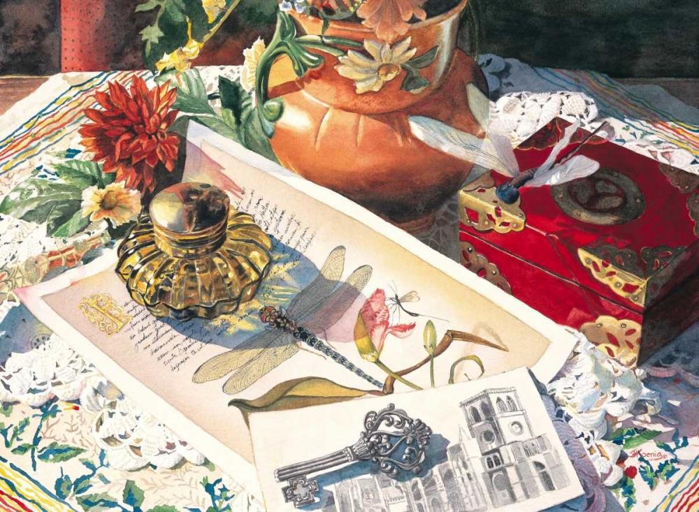 konfigurieren des Kunstdrucks in Wunschgröße Dragonfly in Amber von Koenig, Judy