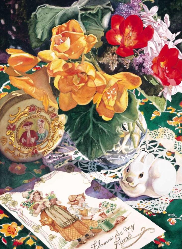 konfigurieren des Kunstdrucks in Wunschgröße Etude En Saffron von Koenig, Judy