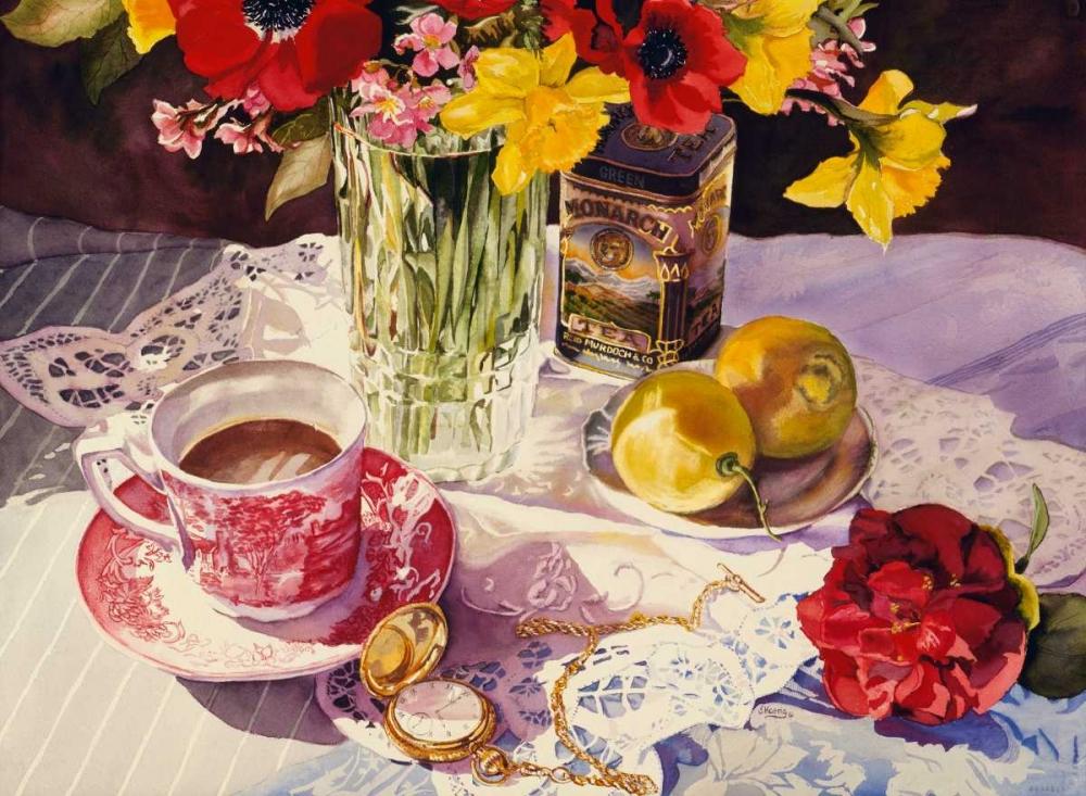 konfigurieren des Kunstdrucks in Wunschgröße High Tea von Koenig, Judy