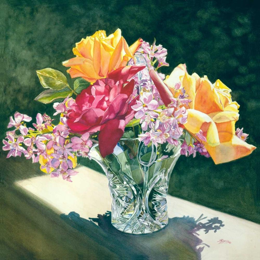 konfigurieren des Kunstdrucks in Wunschgröße Roses in Crystal von Koenig, Judy