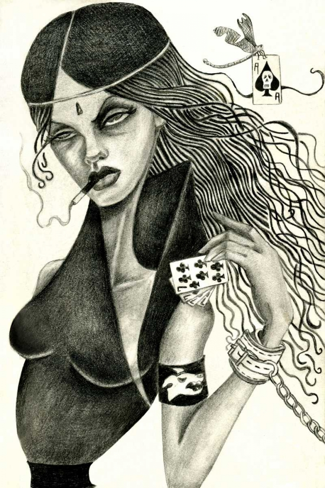 konfigurieren des Kunstdrucks in Wunschgröße Cassandra II (Drawing) von Goddess, Jami