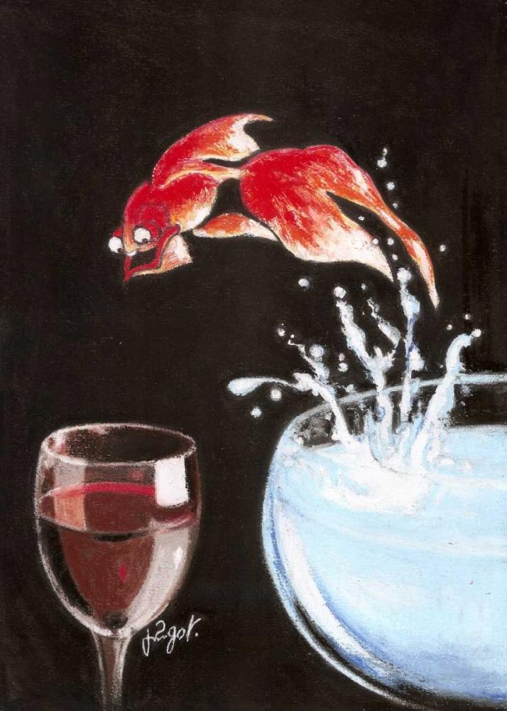 konfigurieren des Kunstdrucks in Wunschgröße Heureux comme un poisson von Got, Jean-Pierre