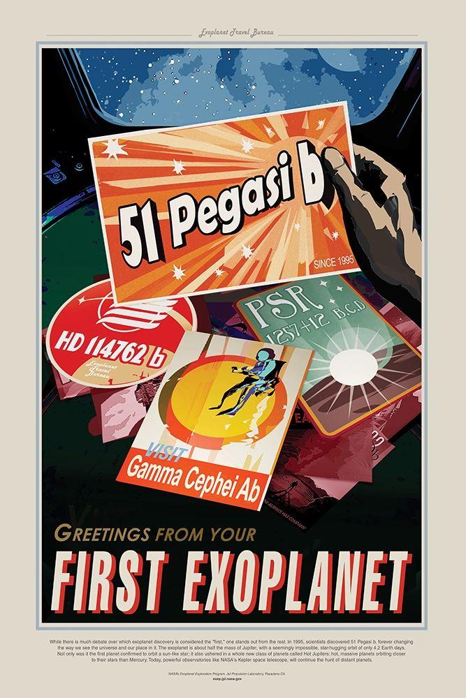 konfigurieren des Kunstdrucks in Wunschgröße First Exoplanet von JPL
