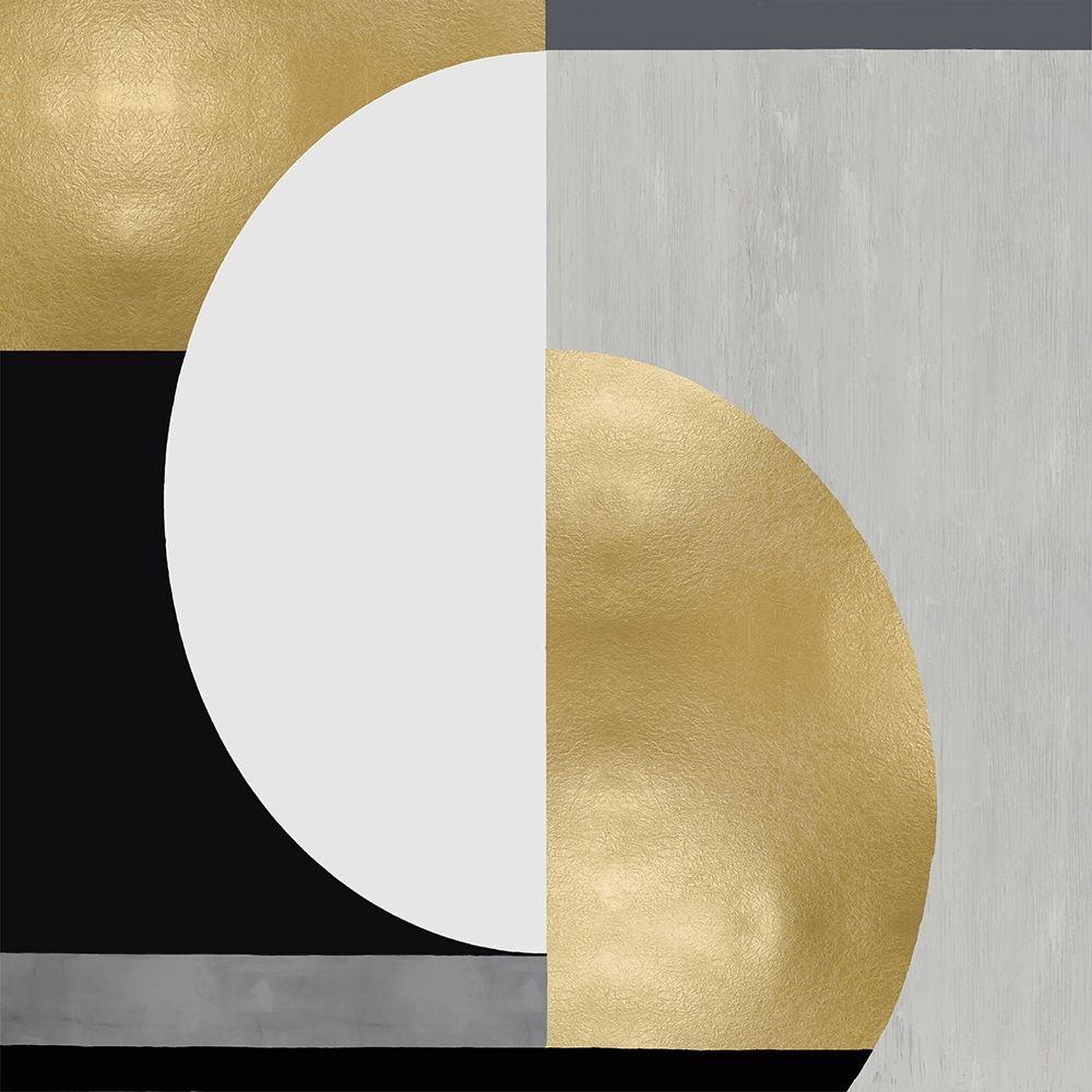 konfigurieren des Kunstdrucks in Wunschgröße Balanced in Gold I von Thompson, Justin