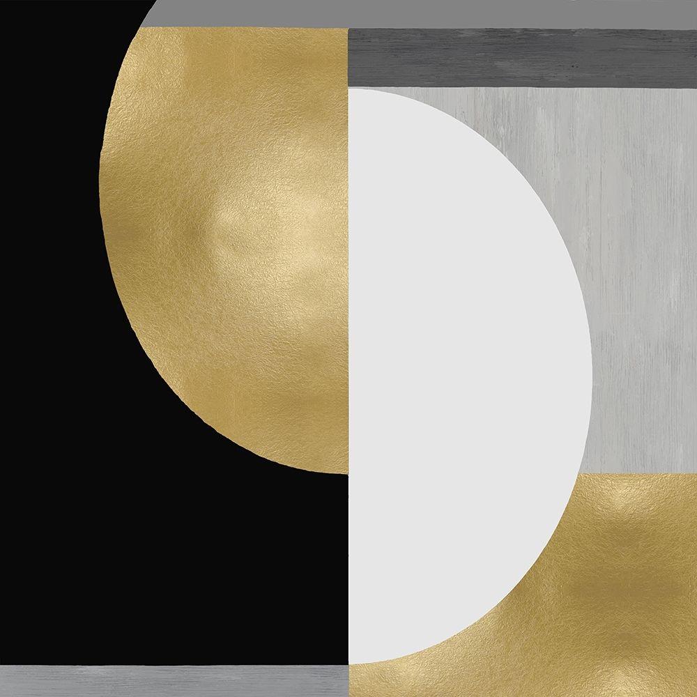 konfigurieren des Kunstdrucks in Wunschgröße Balanced in Gold II von Thompson, Justin
