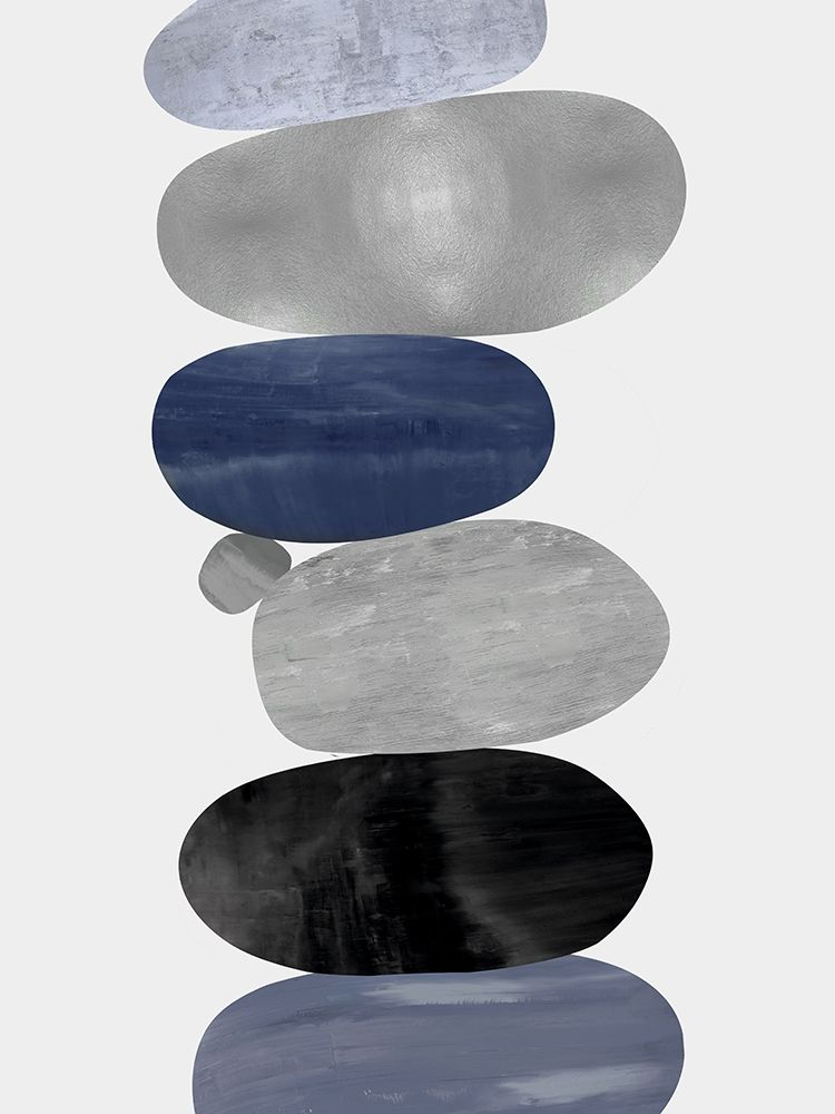 konfigurieren des Kunstdrucks in Wunschgröße Emerge Blue II von Thompson, Justin