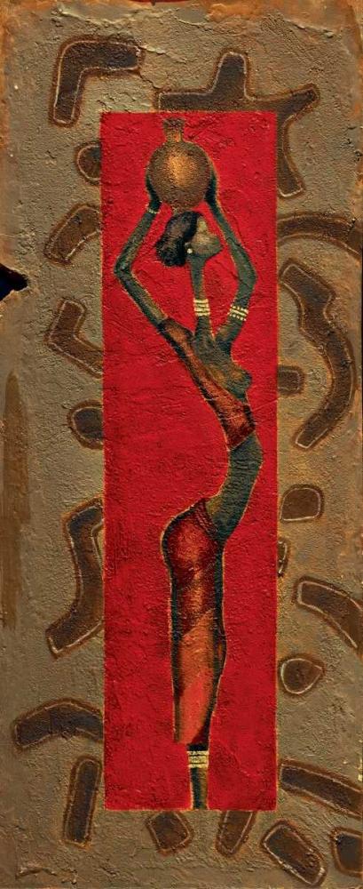konfigurieren des Kunstdrucks in Wunschgröße African Lady I von Kamba