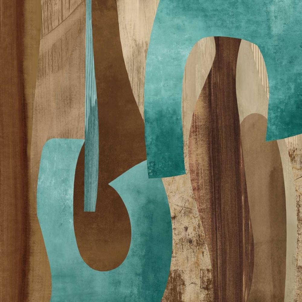 konfigurieren des Kunstdrucks in Wunschgröße Aqua Turns I von Baker, Kevin