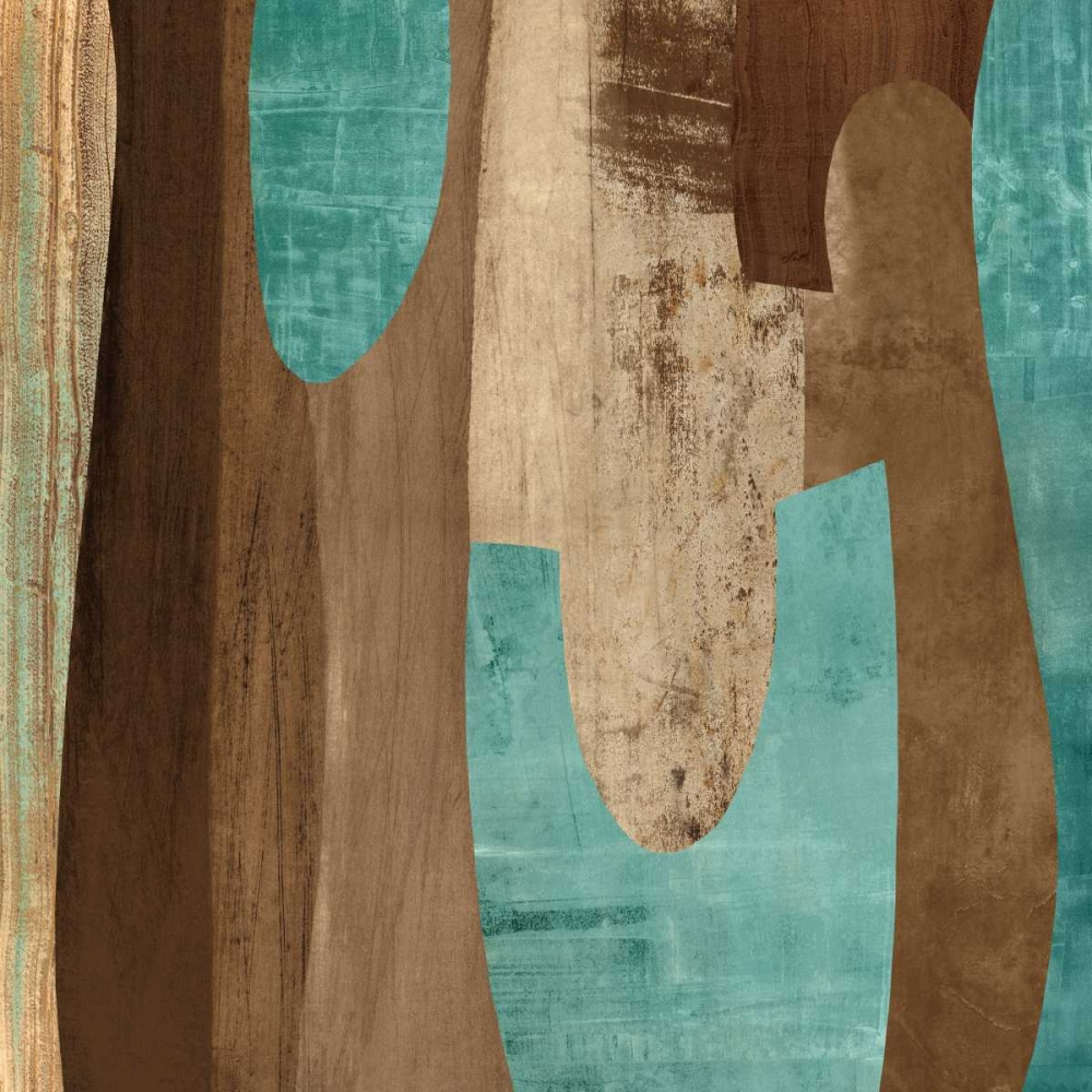 konfigurieren des Kunstdrucks in Wunschgröße Aqua Turns II von Baker, Kevin