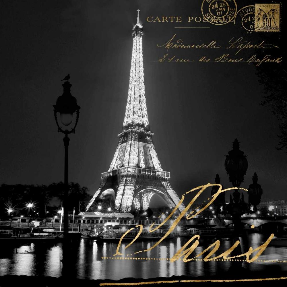 konfigurieren des Kunstdrucks in Wunschgröße Paris At Night von Carrigan, Kate