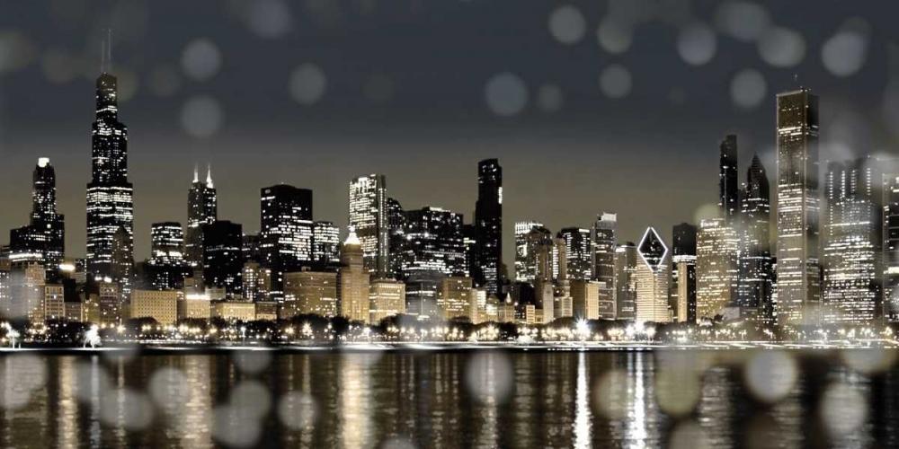 konfigurieren des Kunstdrucks in Wunschgröße Chicago Nights I von Carrigan, Kate