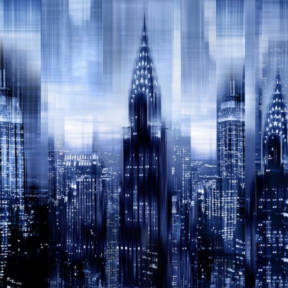 konfigurieren des Kunstdrucks in Wunschgröße NYC - Reflections in Blue I von Carrigan, Kate