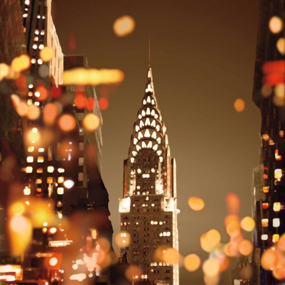 konfigurieren des Kunstdrucks in Wunschgröße City Lights-New York von Carrigan, Kate