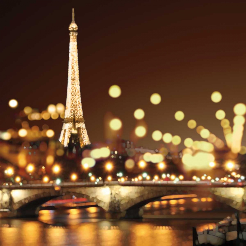 konfigurieren des Kunstdrucks in Wunschgröße City Lights-Paris von Carrigan, Kate