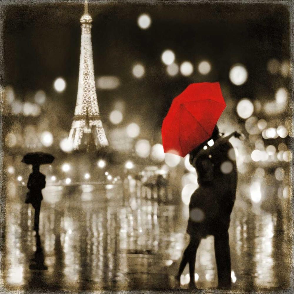 konfigurieren des Kunstdrucks in Wunschgröße A Paris Kiss von Carrigan, Kate