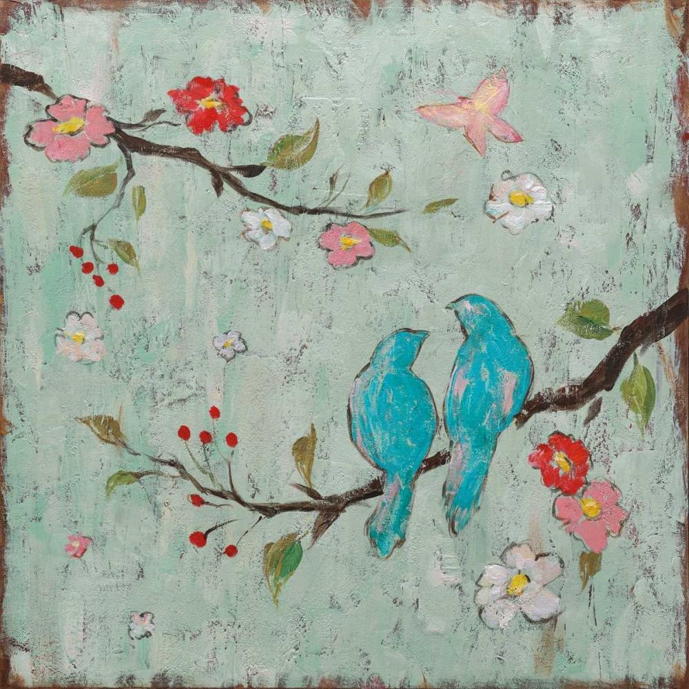 konfigurieren des Kunstdrucks in Wunschgröße Love Birds I von Frances, Katy